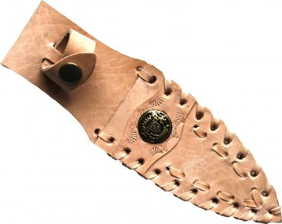 Knife Sheath made of real leather beige – image 1