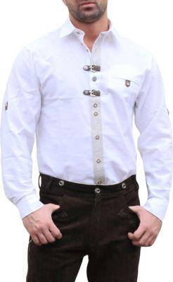 Germna Wear, Trachtenhemd für Lederhosen mit Verzierung weiß