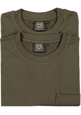 Hunting T-Shirt for lederhosen Trachten-fashion Olive