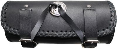 Motorrad Werkzeugtasche Satteltasche Motorradtasche Toolbox echtleder schwarz – Bild 1