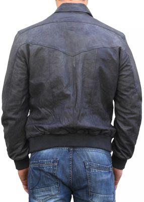 Men Leather jacket fashion lamb Nappa-leather,Colour:Grey – image 2