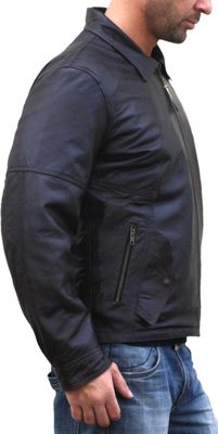 Men Leather jacket fashion sheepskin lamb Nappa-leather,Colour:Brown – image 3