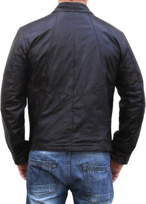Men Leather jacket fashion sheepskin lamb Nappa-leather,Colour:Brown – image 2