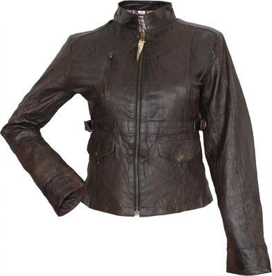 german wear damen lederjacke echtleder jacke aus lamm nappa leder knitterlook ebay. Black Bedroom Furniture Sets. Home Design Ideas
