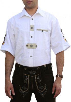 Trachtenshirt for Lederhosen with Decorations,Colour:White – image 1