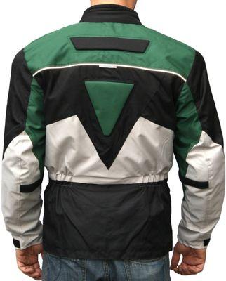 German Wear, Cordura Textile Jacket, Motorbike jacket, combinable Black/Green/Gray – image 2