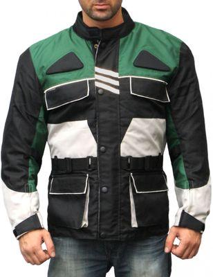 German Wear, Cordura Textile Jacket, Motorbike jacket, combinable Black/Green/Gray – image 1
