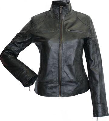 Ladies leather jacket lamb Nappa-leather