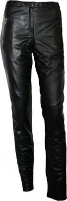 German Wear, Ladies leather trousers fashion sheepskin lamb Nappa-leather Black – image 1