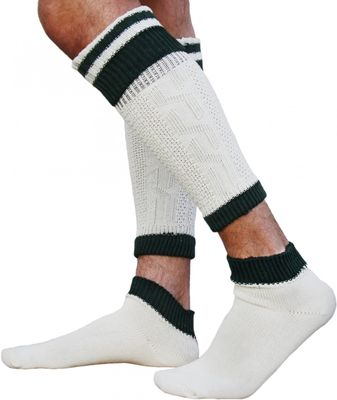 Long traditional socks  stockings braided-look, colour: cream/ mottled, 65cm Extra long socks – image 1