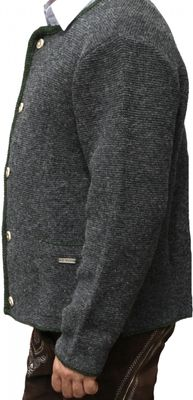 German Wear, Trachten Wolljanker Strickjacke Tracht woll janker anthrazit – Bild 3