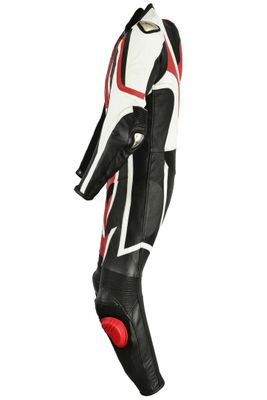 Motorbike motorcycle leathers 1 one piece suit real Cowhide leather Red/Black – image 5