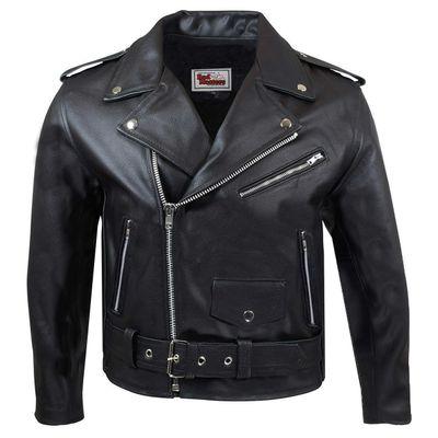 Kids Leather Motorcycle Rockabilly Rocker Chopper Brando jacket