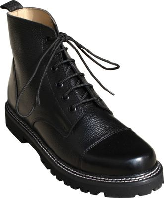 Western Chopper Motorcycle shoes real leather,color:Black – image 3