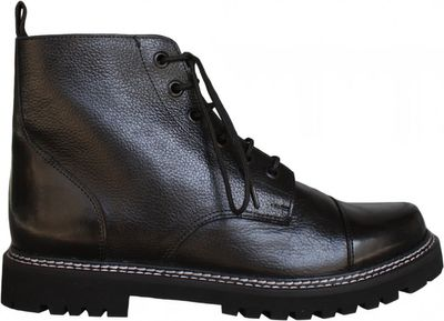Western Chopper Motorcycle shoes real leather,color:Black – image 1