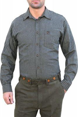 Hunting traditional shirt for lederhosen Cotton,color: dark Green – image 1
