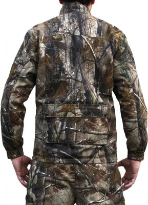 Textile Hunting Jacket  Forest Pattern with Deer Stitchery – image 2