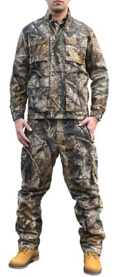 Textile Hunting Jacket  Forest Pattern with Deer Stitchery – image 4