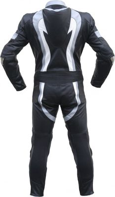 German Wear, Motorcycle leathers 1 one piece suit real Cowhide Grey – image 2