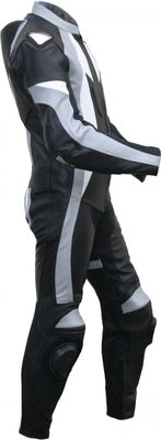 German Wear, Motorcycle leather One-piece suit real Cowhide Black, Grey, White – image 3