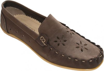 Low Shoes Mocassins Driving Shoes Suede Cowhide dark brown – image 1