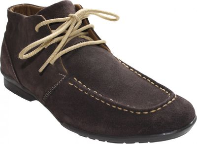 Boots made of real Suede Leather Brown / Beige / Blue – image 5