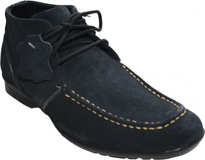 Boots made of real Suede Leather Brown / Beige / Blue – image 7