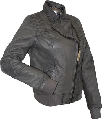 Ladies Leather jacket, fashion lamb Nappa-leather,colour: grey – image 2