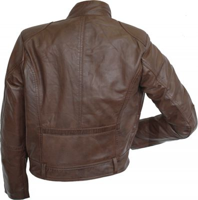 Ladies leather jacket, fashion lamb Nappa-leather, colour: brown – image 2