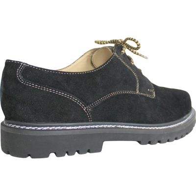 Bavarian traditional Shoes / Haferl Shoes Haferlschuhe Suede,color: Black – image 3