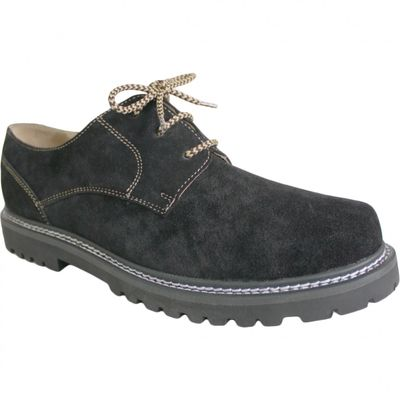 Bavarian traditional Shoes / Haferl Shoes Haferlschuhe Suede,color: Black – image 1