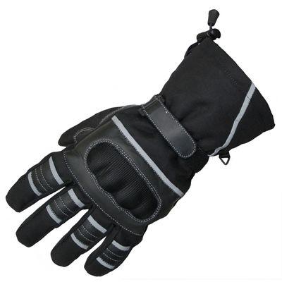Motorbike Biker textile Gloves Black – image 1