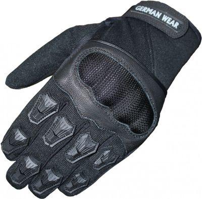 Motocross Motorradhandschuhe Biker Handschuhe Textilhandschuhe Schwarz
