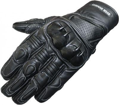 Motorbike Biker Leather Gloves Black
