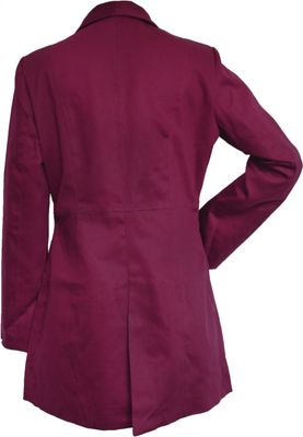 Ladies Cotton Coat fashion trench Coat Claret, colour: Wine Red – image 2
