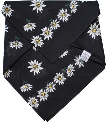 Trachtentuch Halstuch 50x50 schwarz
