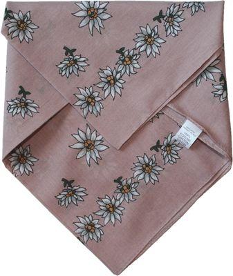 Scarf Trachtenscarf COTTON Flowerdesign 50x50cm,colour: pink