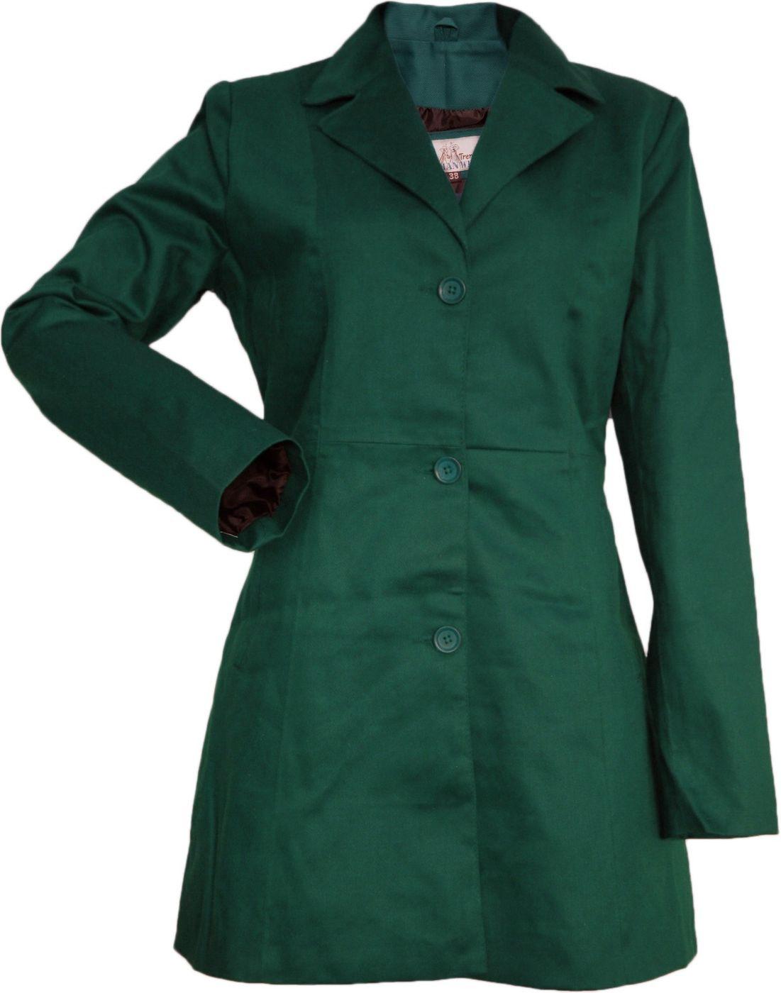 german wear damen mantel trenchcoat aus baumwolle gr n. Black Bedroom Furniture Sets. Home Design Ideas