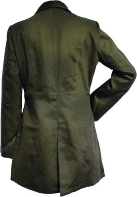 Ladies Cotton Coat fashion trench coat, colour: Olive Green – image 2