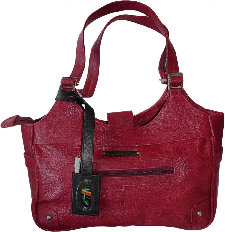 german wear damen lederhandtasche ledertasche shopper handtasche tasche tragetasche rot. Black Bedroom Furniture Sets. Home Design Ideas