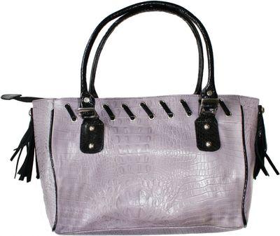Trendy Ladies Bag  handbag real leather purple – image 2