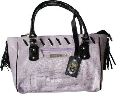 trendy Ladies Bag real Leather purple