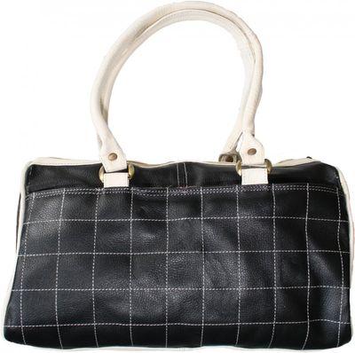 Trendy Ladies Bag  handbag real leather black/white – image 2