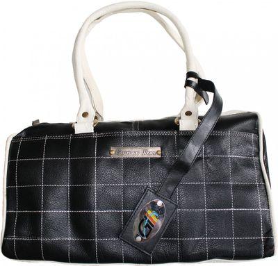 trendy Ladies Bag real Leather black/white