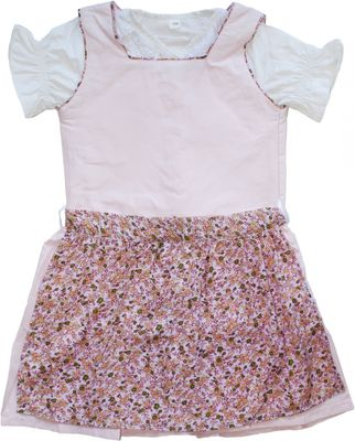Three-pieces Girl Dirndl Trachten Dress Girly, colour: pink – image 1