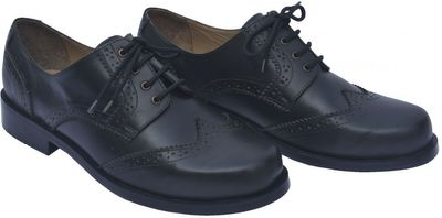 Business Brogue Shoes made of Real Cowhide Leather, Colour Black – image 2