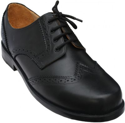 Business Brogue Shoes made of Real Cowhide Leather, Colour Black – image 1