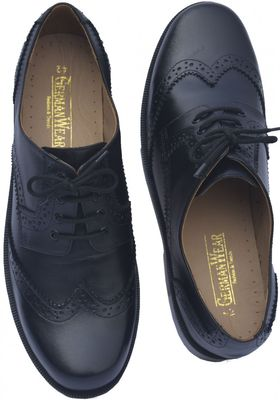 Business Brogue Shoes made of Real Cowhide Leather, Colour Black – image 3
