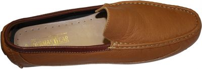 Driving moccasin moc Casual Shoes Nubuck Leather Mustard – image 4
