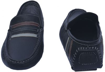 Driving moccasin moc Casual Shoes Nubuck Leather, Colour Black – image 3